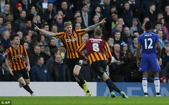 Chiến thằng không thể tin nổi của Bradford trước Chelsea