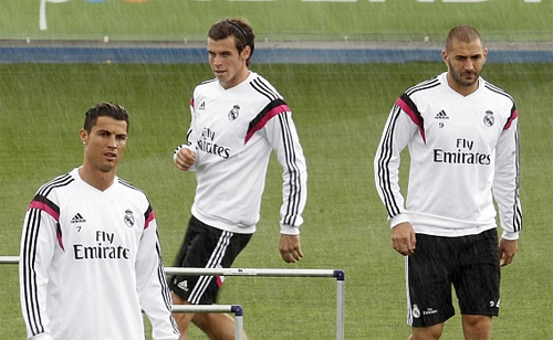 Ronaldo, Bale, Benzema