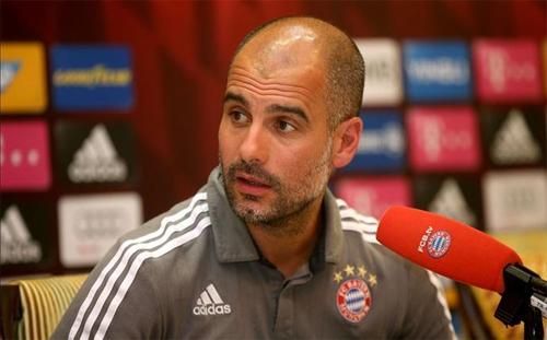 Pep Guardiola đã tuyên bố tới Anh làm việc sau khi rời Bayern cuối mùa này. Ảnh: Reuters
