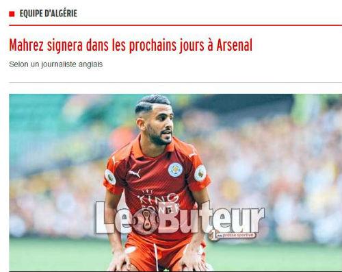 Arsenal chuẩn bị đón Mahrez với mức giá rẻ không tưởng
