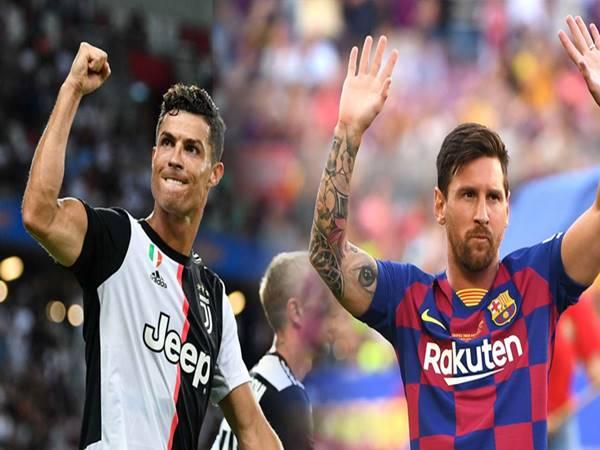 Ronaldo và Messi có tổng số bàn thắng là bao nhiêu?