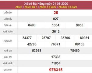 Dự đoán XSDNG 5/8/2020 chốt KQXS Đà Nẵng thứ 4