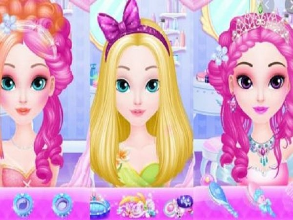Game làm cho tóc cho công chúa Sweet Princess Hair Salon