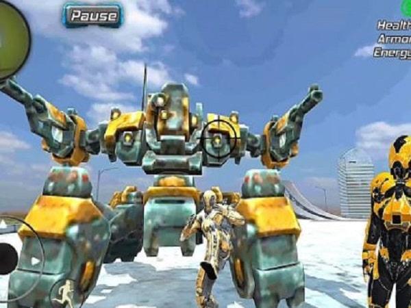 game siêu nhân Super Crime Steel War Hero Iron Flying Mech Robot