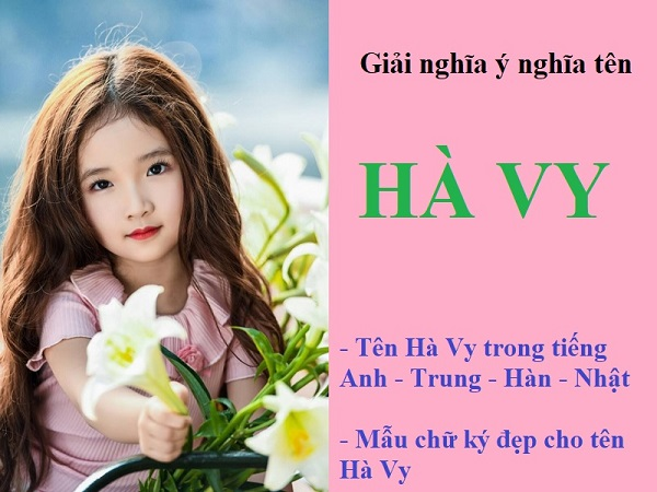Ý nghĩa tên Hà Vy